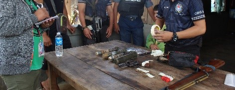 FARMER IN DAVAO OR NABBED FOR GUNS, EXPLOSIVES