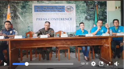 Video: AFP-PNP Press Conference at the Task Force Davao Headquarters, Sta Ana Wharf, Davao City