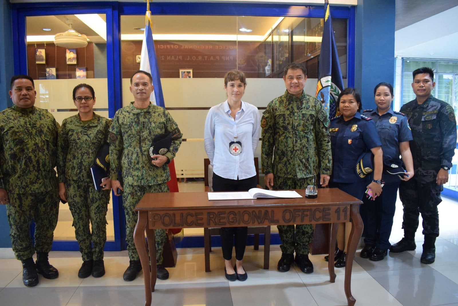 RD PRO 11, PBGen Marcelo C Morales together with the regional staff officers welcomed ICRC- Head of Sub-Delegation (Davao) Ms. Tara Montgomery during her visit at PRO 11