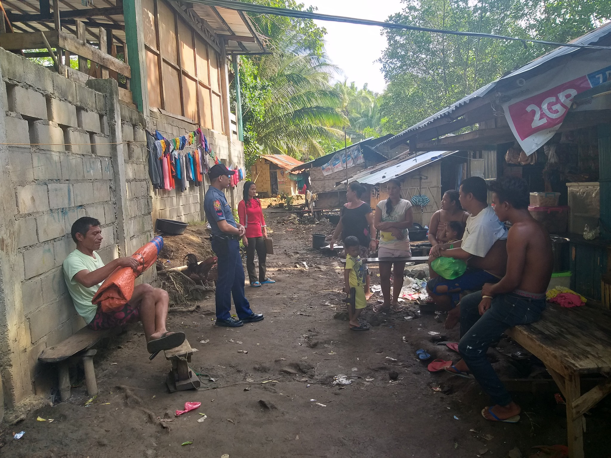 Sarangani Municipal Police Station personnel conduct dialouge on Anti-illegal Drug/Criminality campaign, terrorism awareness and crime prevention tips to the residents of Brgy Mabila, Sarangani Davao Occidental